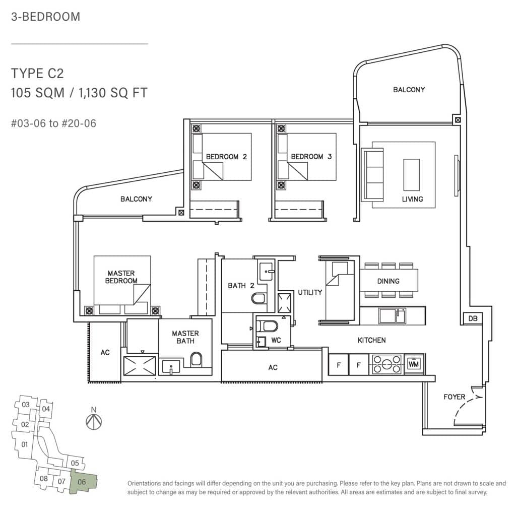 3-Bedroom-Type-C2-105-SQM