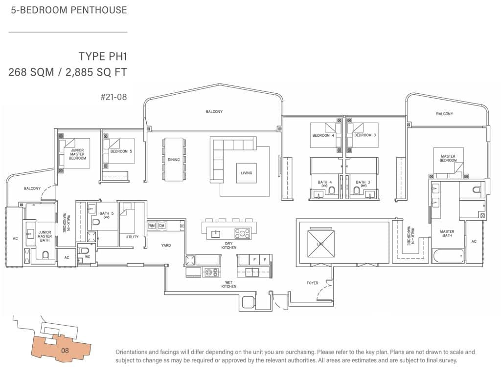 5-Bedroom-Penthouse-Type-PH1-268-SQM